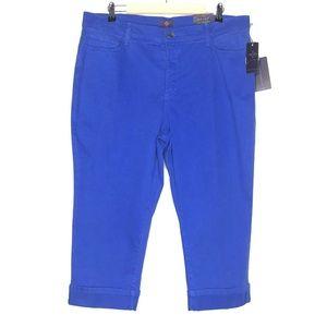 NYDJ Blue Crop Capri New With Tags Brand New
